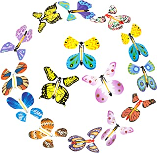 24 Pieces Magic Flying Butterfly Rubber Band Powered Funny Wind Up Butterfly in The Book Fairy Toy Classic Novelty Gag Toy...