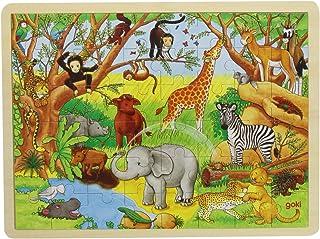 Goki - 2041640 - Puzzle En Bois À Encastrement - Afrique - 48 Pièces