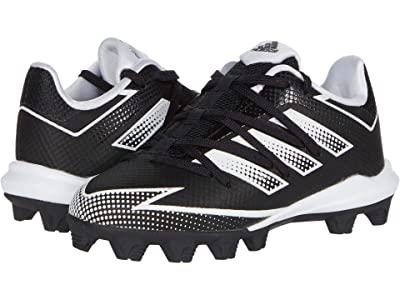 adidas Kids Afterburner 7 MD Baseball (Toddler/Little Kid/Big Kid) (Core Black/Footwear White/Core Black) Kids Shoes