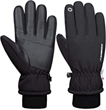 Anqier -30? Winter Gloves Touchscreen Gloves Thermal Gloves 3M Thinsulate Windproof Cold Weather Gloves for Running
