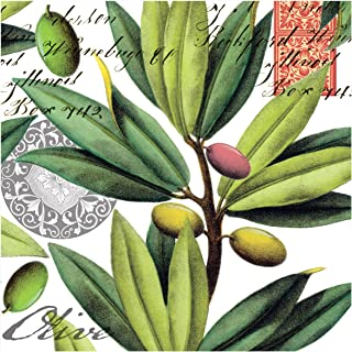 Michel Design Works 20-Count 3-Ply Paper Luncheon Napkins, Olive Grove
