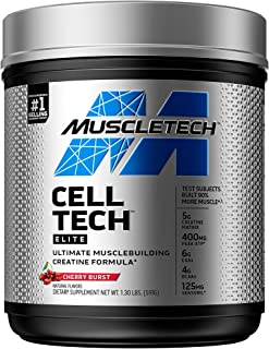 MuscleTech Cell-Tech Elite Supercharged Creatine Powder + Carb Muscle-Builder, Amplify Strength & Lean Muscle & Improve Re...