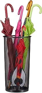 Relaxdays, Porte-parapluie, Porte-canne universel en métal, Ø 26 cm, 50 cm de haut, noir