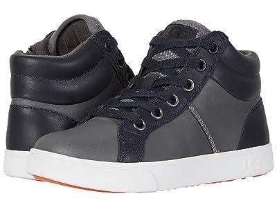 UGG Kids Boscoe Leather Sneaker (Toddler/Little Kid/Big Kid) (Charcoal) Boy