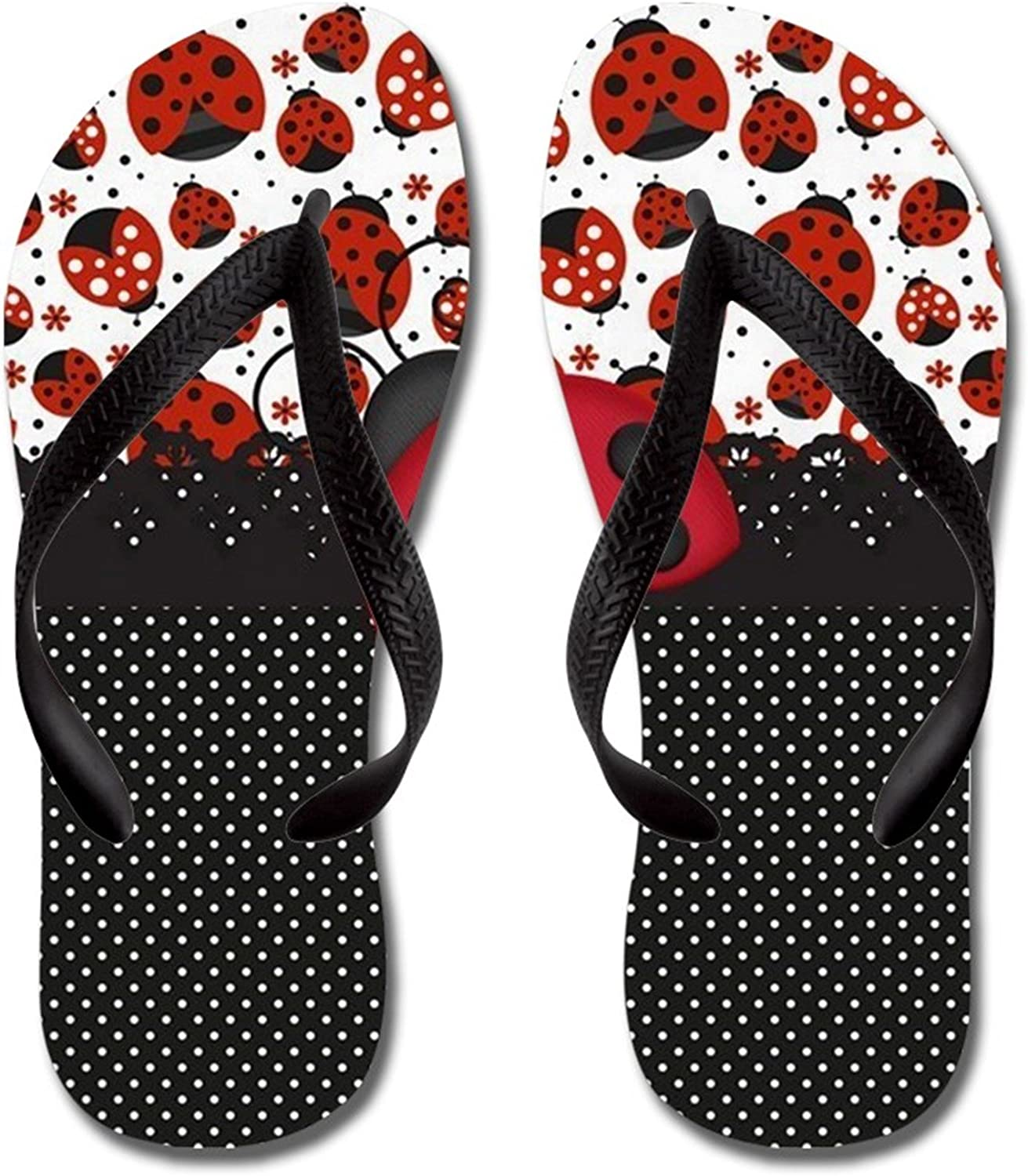 Lplpol Ladybugs with Free shipping Black and Same day shipping White Flops for Dots an Flip Kids