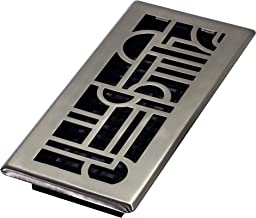 Decor Grates ADH410-NKL Floor Register, 4x10, Brushed Nickel