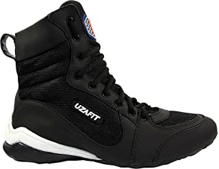 Uzafit Chicago Bodybuilding Weightlifting Crossfit Boxing Shoe Unisex Sneaker Black