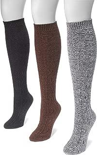 Muk Luks Women's 18' Crosshatch Knee High Socks