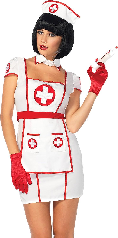 Leg Avenue 85539  Hospital Heartbreaker Fancy Dress Costume (Medium Large, 3Piece)