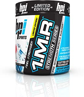 BPI Sports 1.M.R Strength Series Pre-Workout Muscle Builder, Rainbow Ice, 8.8 Ounce