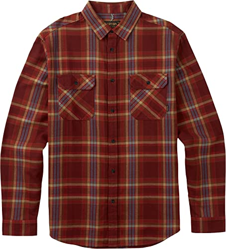 Burton Hommes's Brighton Flannel Down Shirt, Firouge Brick Balsam, Medium