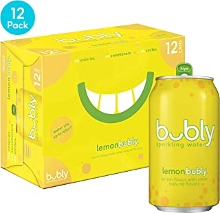 bubly Sparkling Water, Lemon, 12 fl oz. cans (12 Pack)