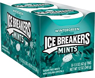 Ice Breakers Mints, Wintergreen, Sugar Free, 1.5 Ounce (8 Count)