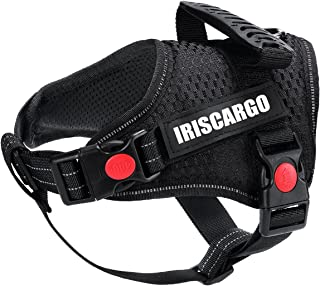 IrisCargo No Pull Dog Harness Reflective Adjustable Pet Vest Dog Puppy Harness with Easy Control Handle for Small Medium L...
