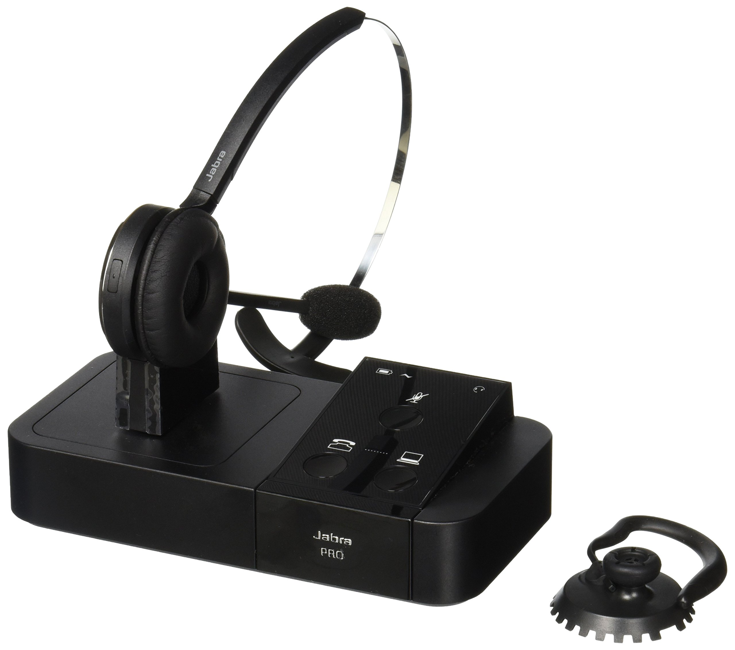 Amazon Com Jabra Pro 9450 Mono Flex Boom Wireless Headset For Deskphone Softphone Electronics