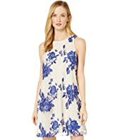 Sleeveless A-Line Tie Back Dress
