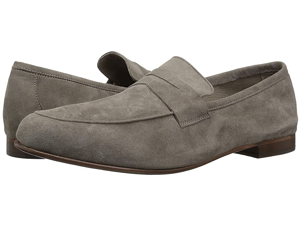 Massimo Matteo Suede Penny Loafer (Smoke Suede) Men