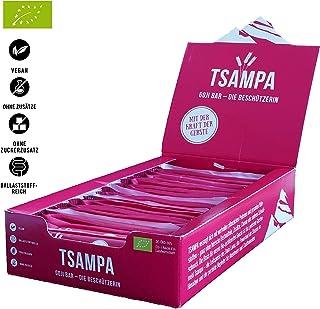 TSAMPA Goji Bar - GOJI BOX - Bio Energieriegel aus gerösteter Gerste mit Goji Beeren - vegan 20er Box 20 Stück à 40 g