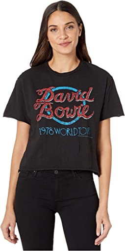 Short Sleeve Slub Raw Edge David Bowie World Tour Tee