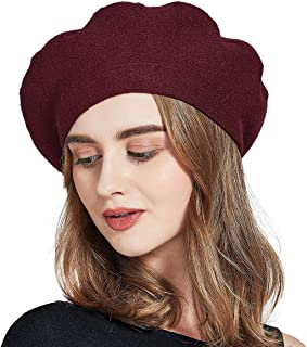 Women Beret Hat Wool Knitted Cap Autumn Winter Hat French Classic Beret