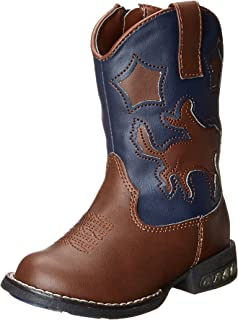Roper Star Rider R Toe Light Up Cowgirl Boot (Toddler/Little Kid)
