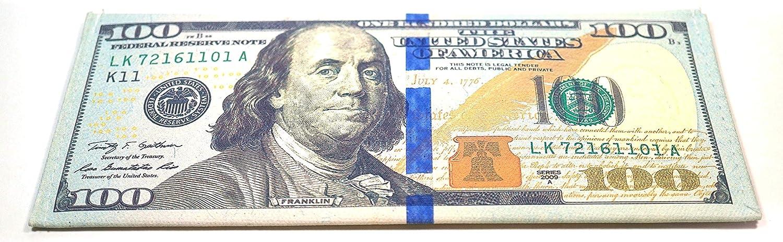 Teri's Boutique $100 US Dollar Bill Money Print Bifold Men Women Kid Wallet