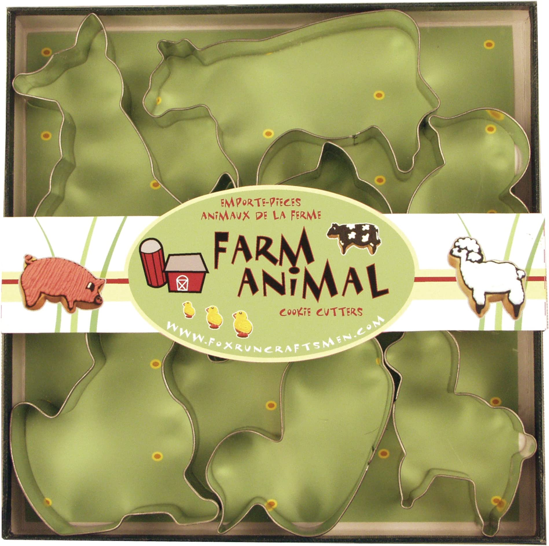 Set of 6 Barn and Farm Animals Cookie CuttersMulti-SizeDishwasher Safe Available