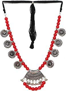 Crunchy Fashion Bollywood Traditional Indian/Bohemian Bollywood Style Afgani Oxidized Silver Boho Gypsy Tribal Jewelry Nec...