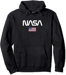 NASA Canotta da Uomo NASA Logo USA Felpa con Cappuccio