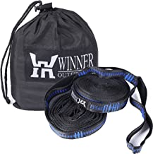 WINNER OUTFITTERS Hammock Straps, Hammock Tree Straps Set, Extra Long Lightweight Hammock Straps with Adjustable Loops, 118 Long x 1 Wide Inches