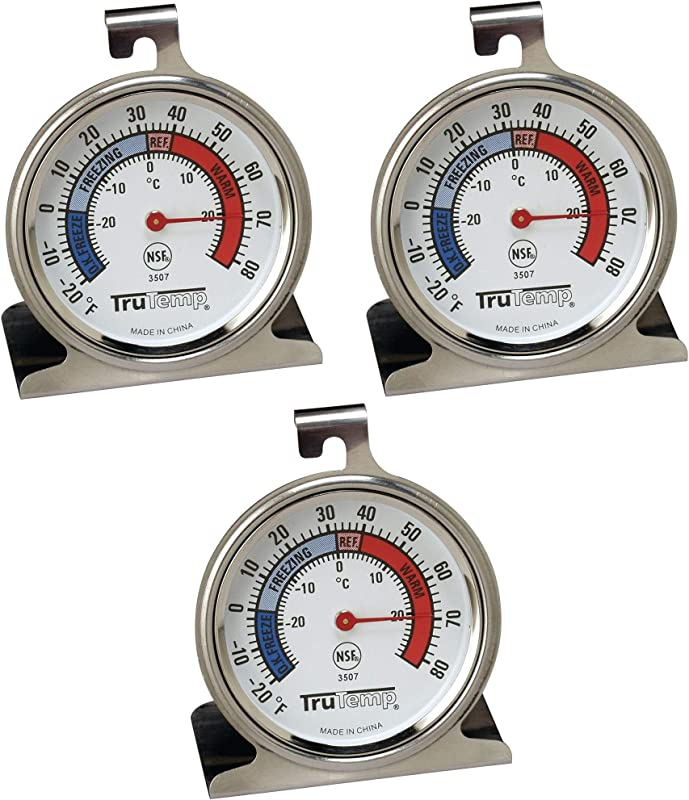 Tru Temp Refrigerator Freezer Thermometer 3 Pack