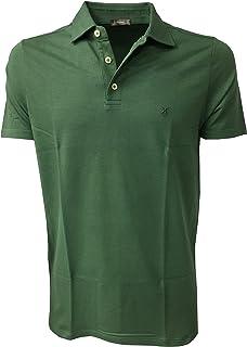 ferrante Polo Uomo Verde Mezza Manica 90% Cotone 10% Elastan Made in Italy