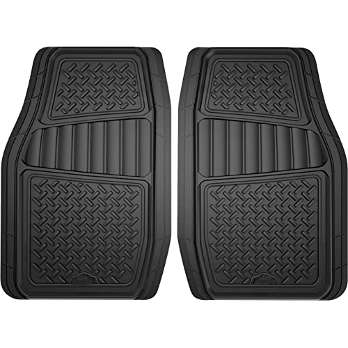 Custom Accessories Armor All 78830 2-Piece Black All Season Truck/SUV Rubber Floor