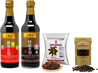 Lee Kum Kee Premium Dark Soy Sauce ,Soy Sauce, Star Anise, Peppercorn Combination Set