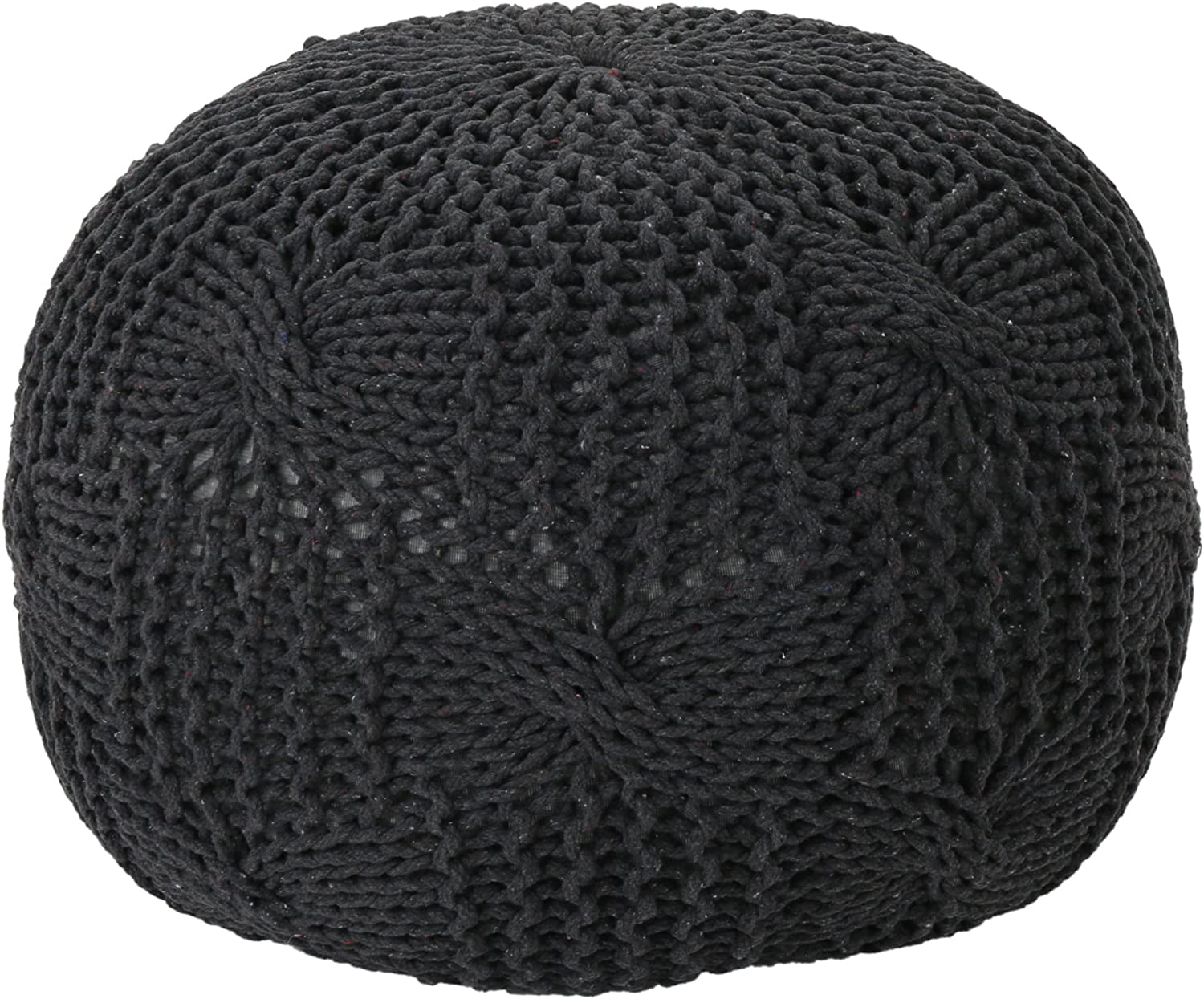 Christopher Knight Home Ansel Dallas Mall online shopping Knitted Grey Pouf Cotton Dark