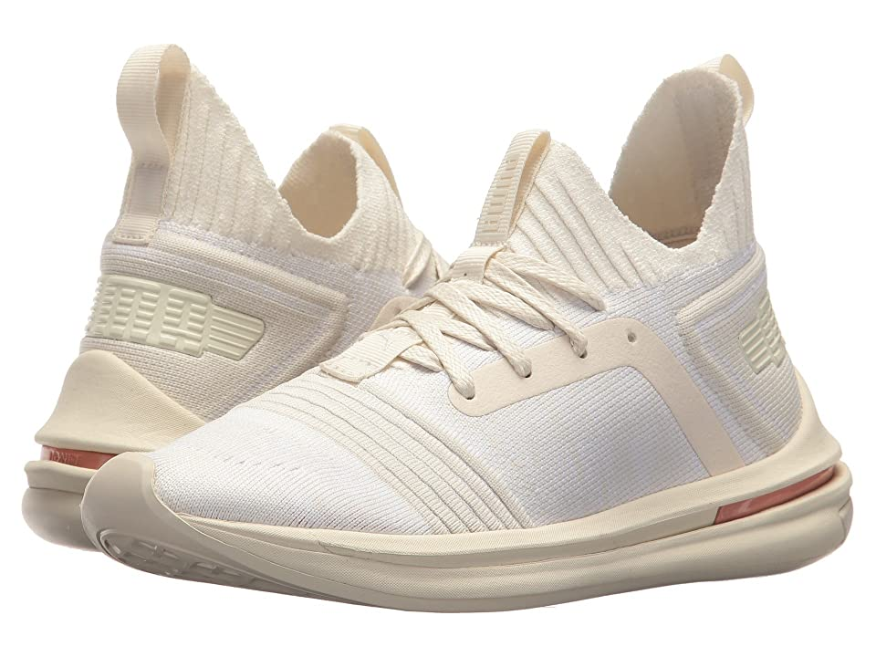 Puma Kids Ignite Limitless SR evoKNIT (Big Kid) (Whisper White/Whisper White/Muted Clay) Boys Shoes