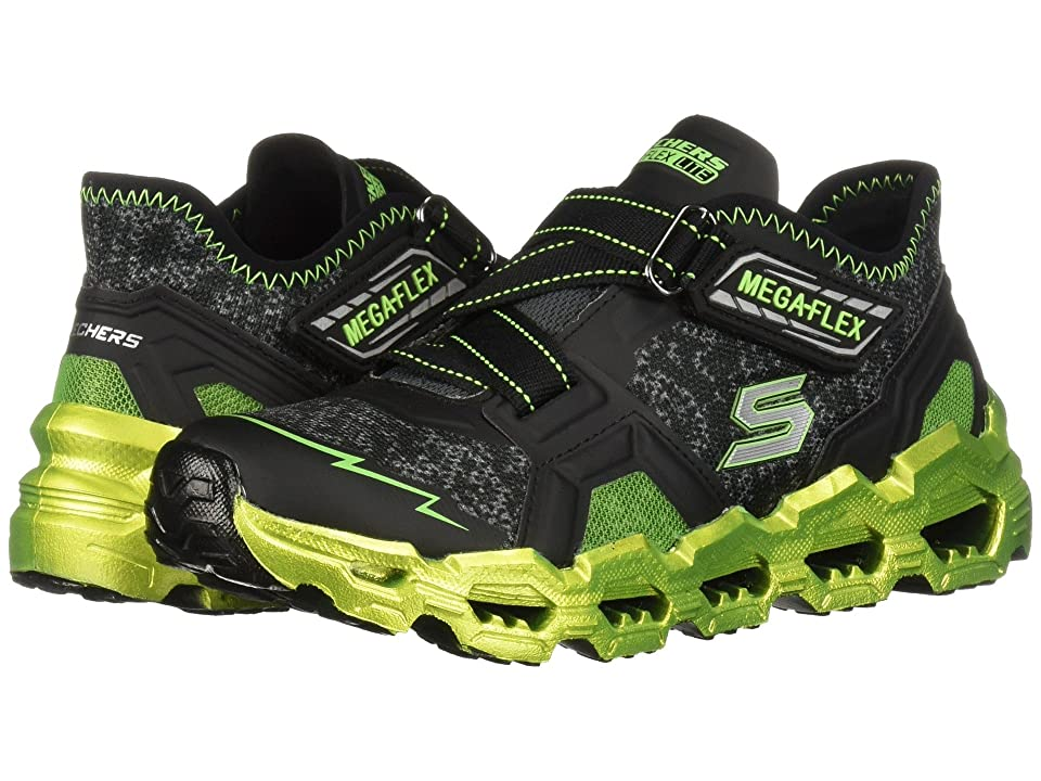 SKECHERS KIDS Mega-Flex Lite 2.0 Blast Fast 97566L (Little Kid/Big Kid) (Black/Lime) Boy