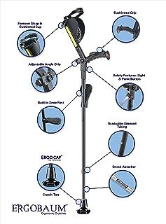 New Generation Ergobaum Ergonomic Crutch/Cane (Single Unit) Single Unit Ergobaum That Acts As a Extra Balance Strong Performance Cane.