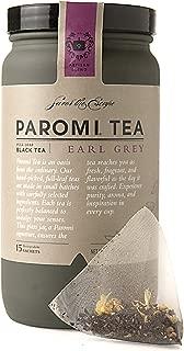 Paromi Tea Earl Grey Tea Full-Leaf, 15 Tea Bags, Caffeinated Black Tea with Bergamot Oils, Delicious Hot or Iced, Sweetened or Plain