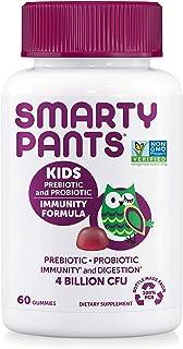 SmartyPants Kids Probiotic Immunity Formula Daily Gummy Vitamins: Probiotics & Prebiotics Boosting Immunity & Digestive Su...