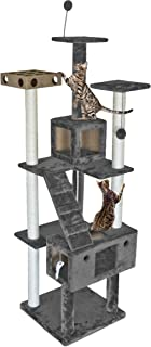 Furhaven Pet - Tiger Tough Tall Cat Tree Entertainment Playground Furniture for Cats & Kittens - Multiple Styles & Colors