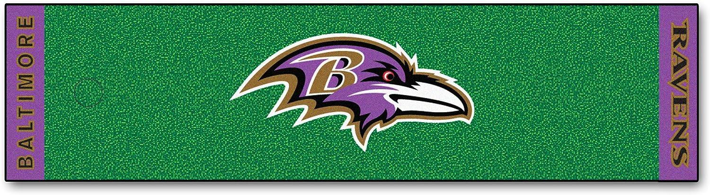 FANMATS NFL Baltimore Ravens Nylon Face Putting Green Mat
