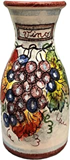 CERAMICHE D'ARTE PARRINI - Italian Ceramic Art Pottery Vase Jar Vessel Vino Vine Hand Painted Made in ITALY Tuscan