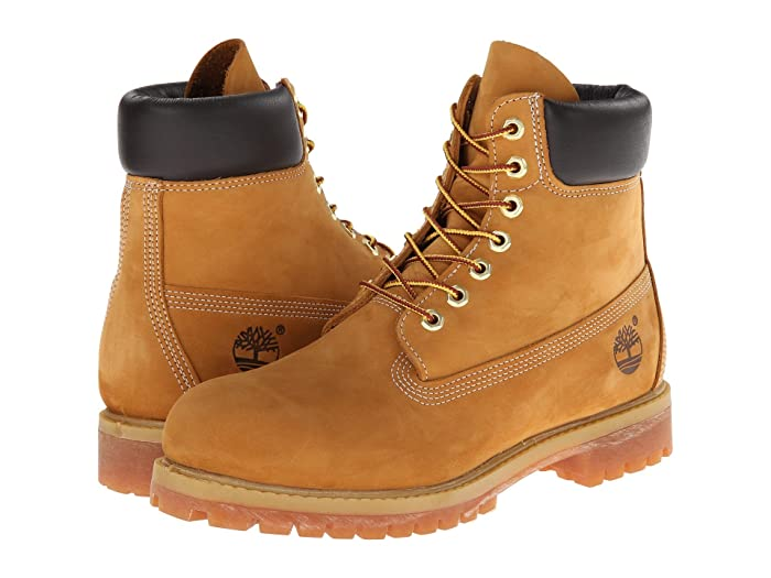 Timberland  6 Premium Waterproof Boot (Wheat Nubuck Leather) Mens Lace-up Boots