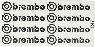 Ecoshirt SY-QUZJ-NNLJ Pegatinas Stickers Brembo R47 Aufkleber Decals Autocollants Adesivi, Negro