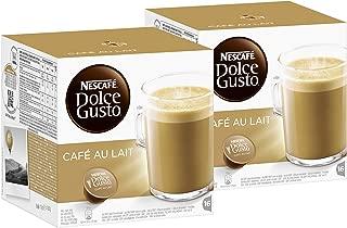 Nescafé Dolce Gusto Café au lait, Pack of 2, 2 x 16 Capsules