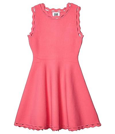Milly Minis Zigzag Trim Flare Dress (Big Kids) (Dahlia) Girl