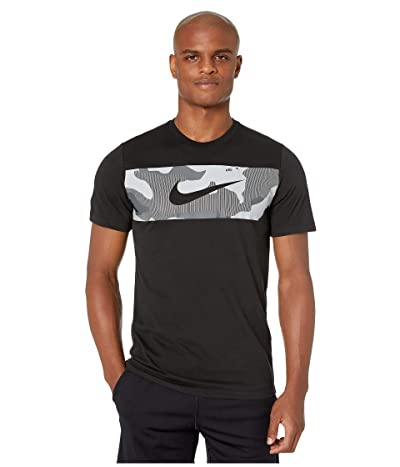 Nike Dry Tee Camo Block (Black/White) Men