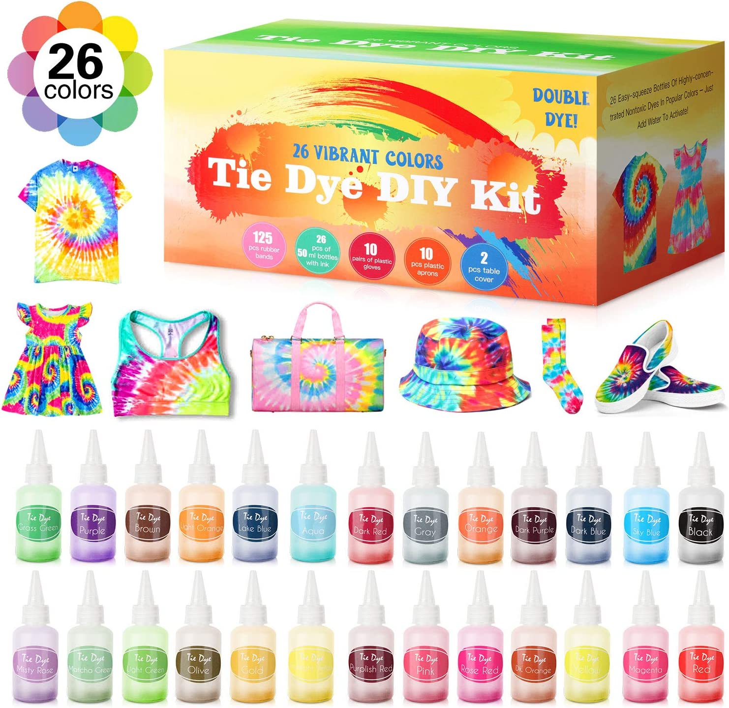 Tie Dye DIY Kit 26 Colors Fabric Adults Super popular specialty store Kits Kids 67% OFF of fixed price for and