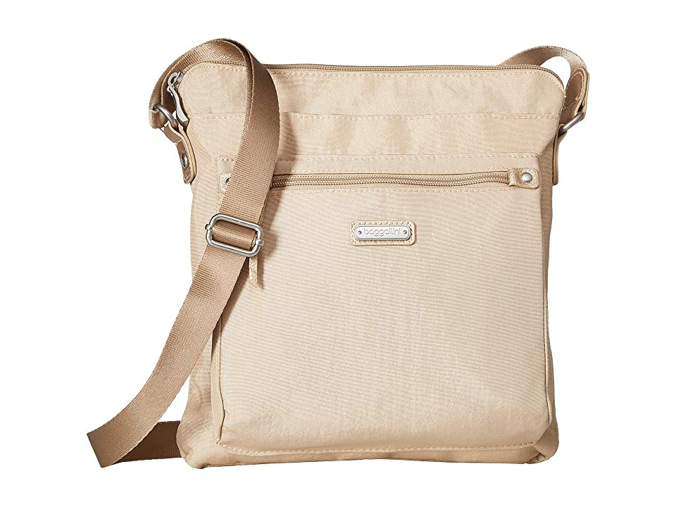 Baggallini New Classic Go Bagg with RFID Phone Wristlet (Champagne Shimmer) Bags